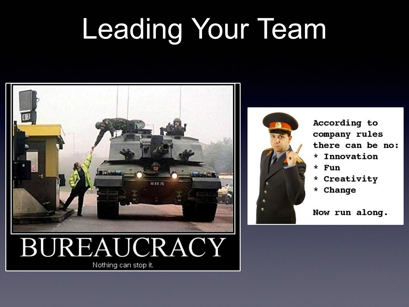 Stand with them, not above them. Leading Your Team