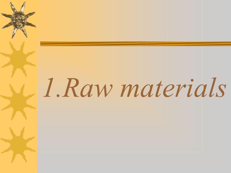 1.Raw materials