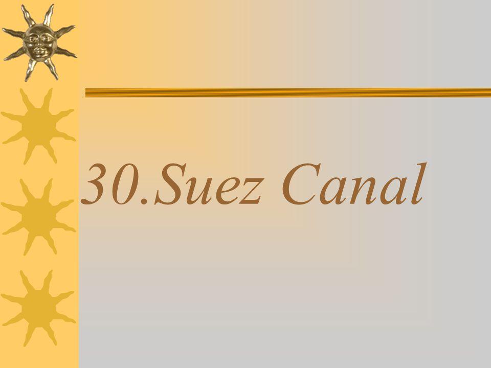 30.Suez Canal
