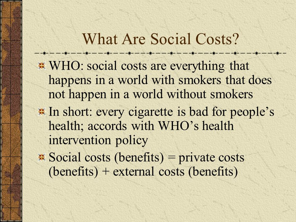What Are Social Costs.