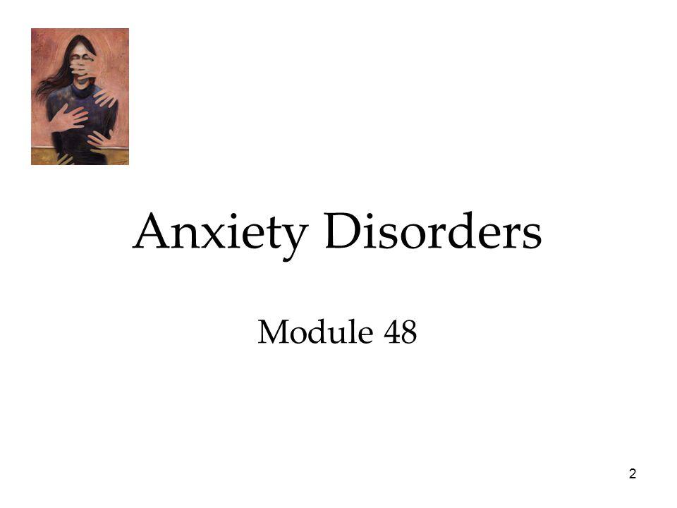 2 Anxiety Disorders Module 48