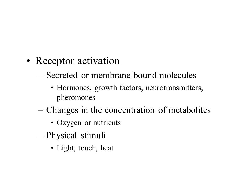 Intracellular Receptors Extracellular signal molecules are small, lipid-soluble hormones such as steroid hormones, retinoids, thyroid hormones, Vitamin D.