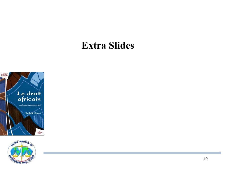 19 Extra Slides