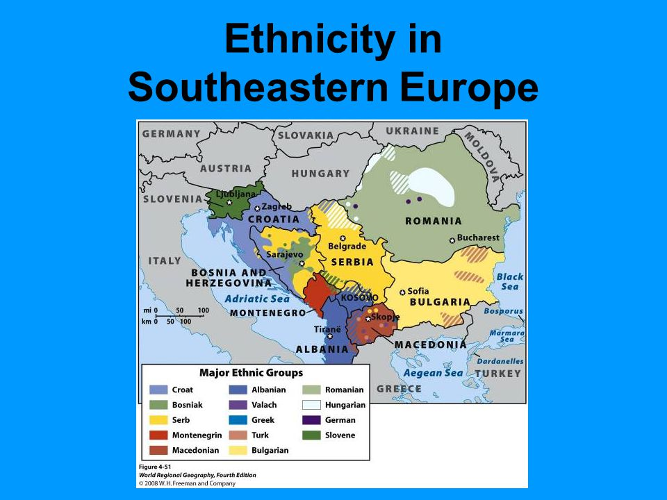Ethnicity in Southeastern Europe Figure 4.51