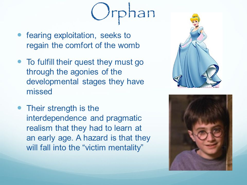 Orphan fearing exploitation, seeks to regain the comfort of the womb To fulfill their quest they must go through the agonies of the developmental stag
