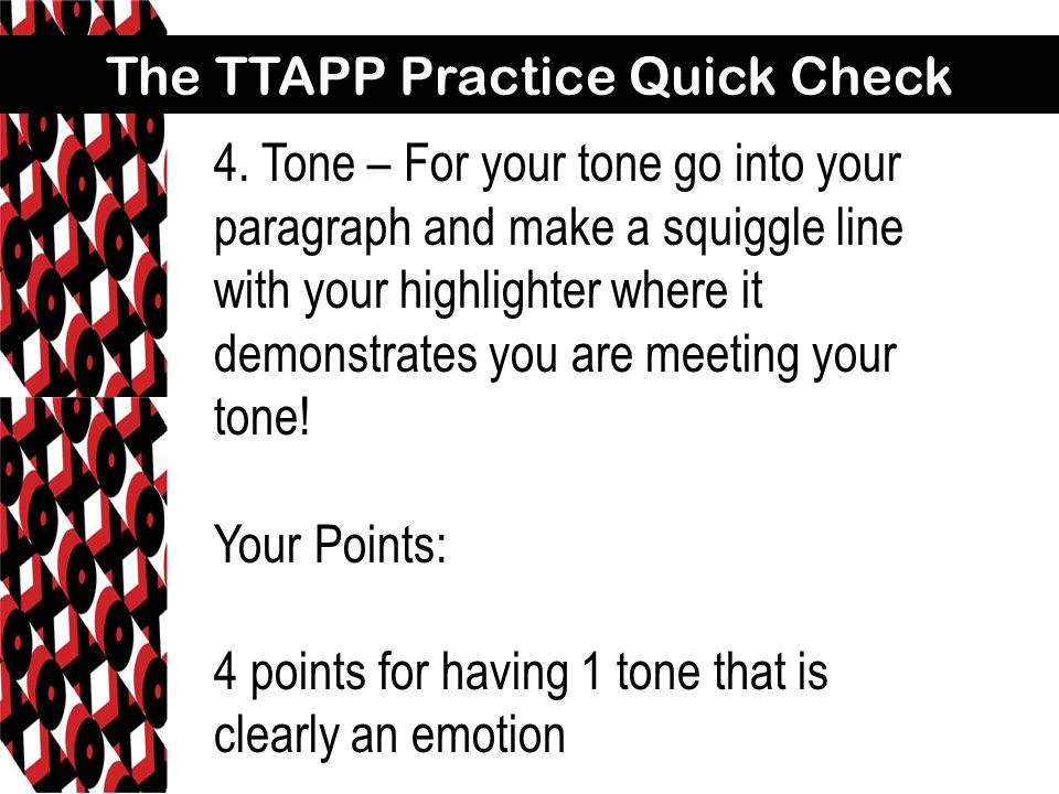 The TTAPP Practice Quick Check 5.Point of View – be sure you have both parts...