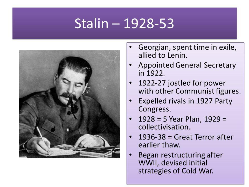 Stalin – 1928-53