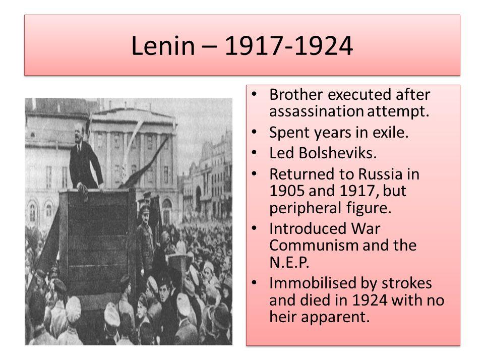 Lenin – 1917-1924