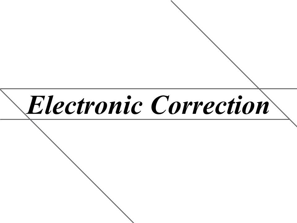 Electronic Correction