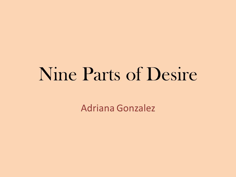 Nine Parts of Desire Adriana Gonzalez