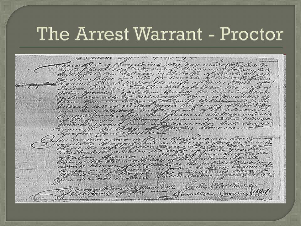 The Arrest Warrant - Proctor