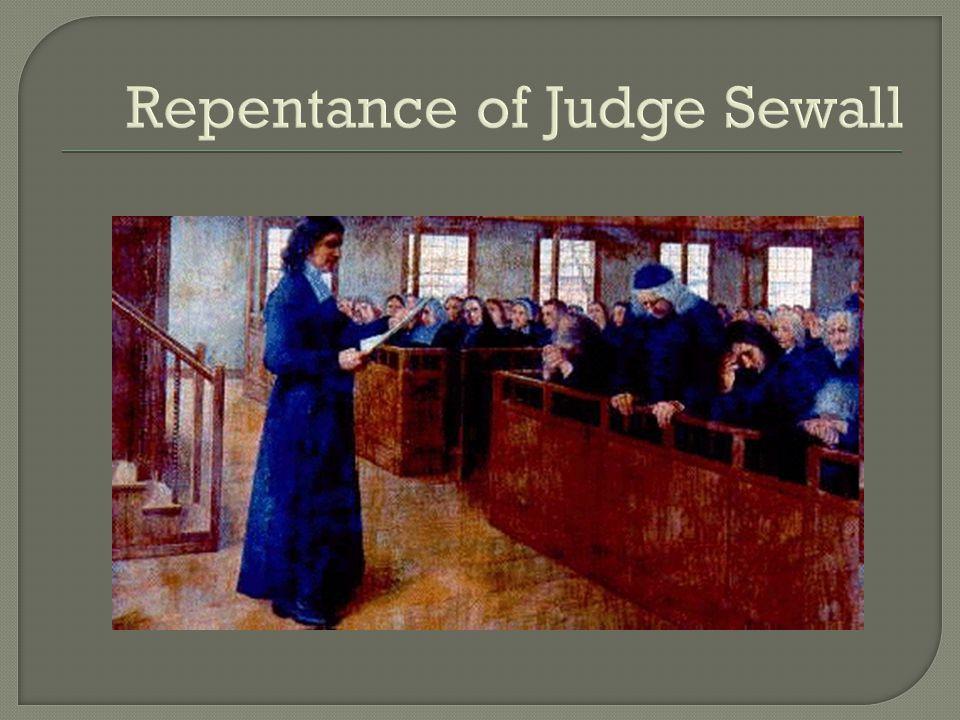 Repentance of Judge Sewall