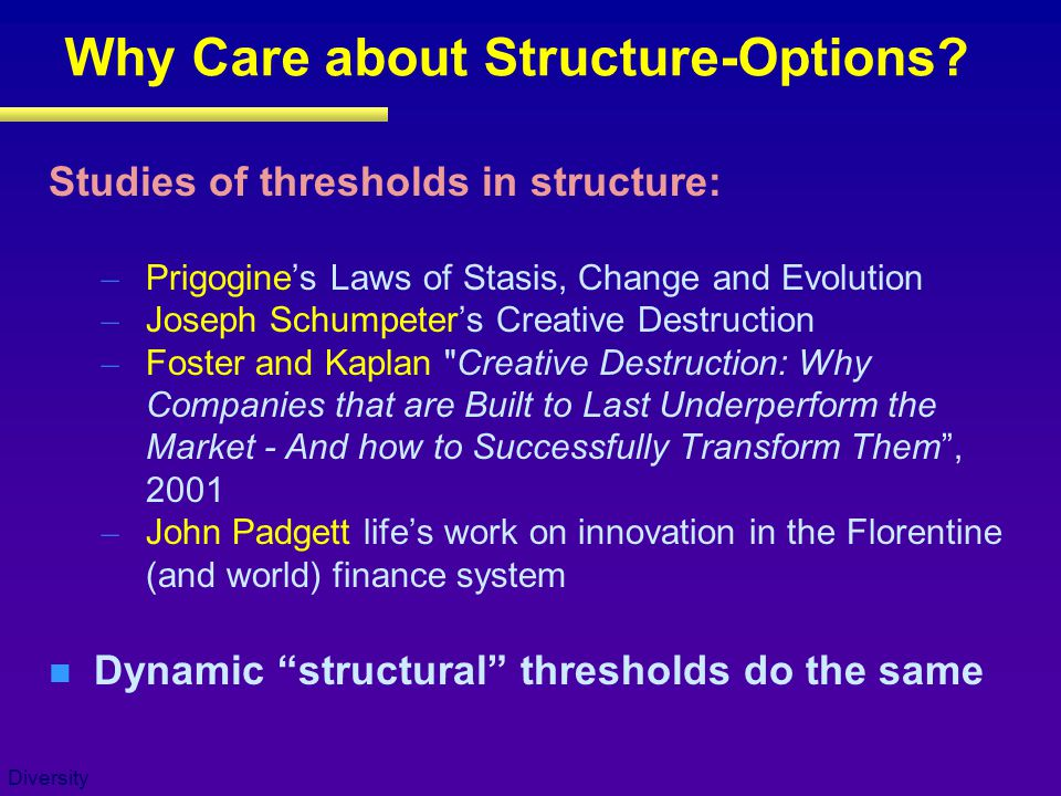 Diversity Why Care about Structure-Options.