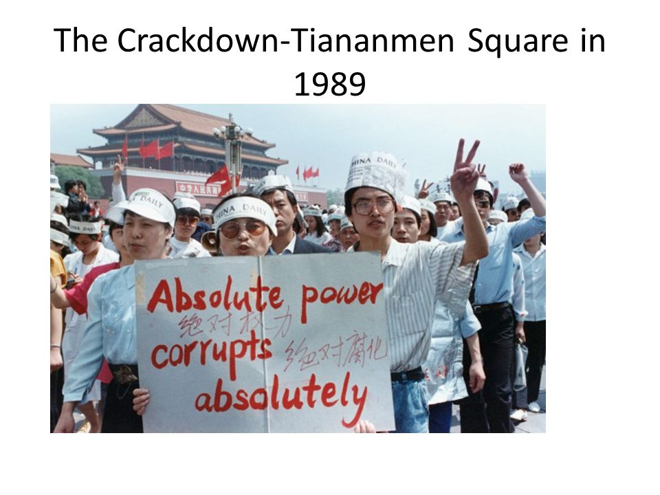 The Crackdown-Tiananmen Square in 1989