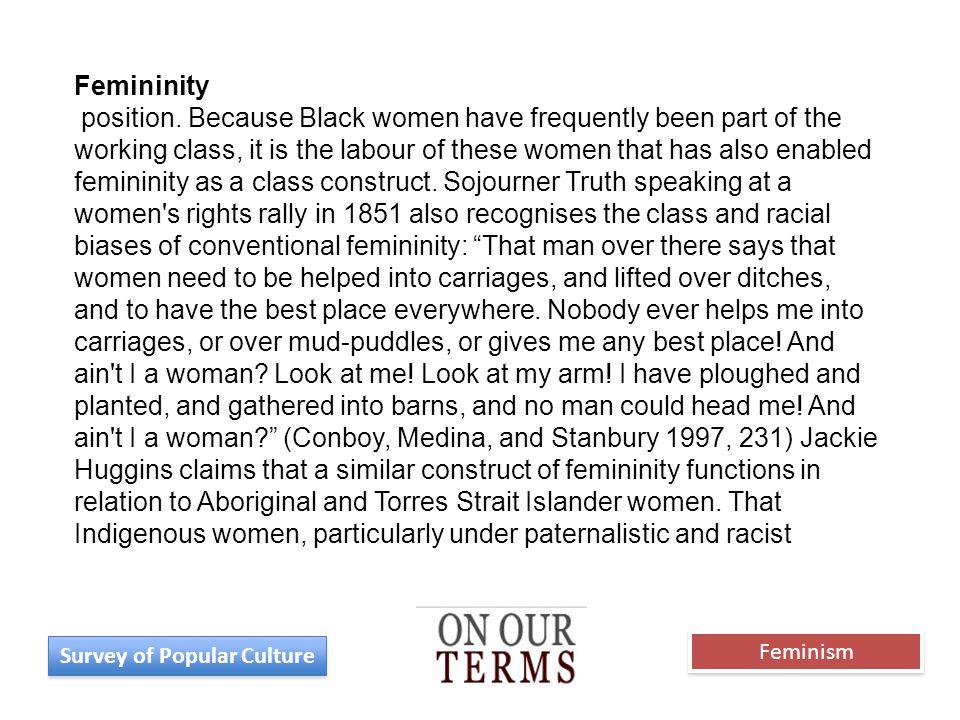 Femininity position.