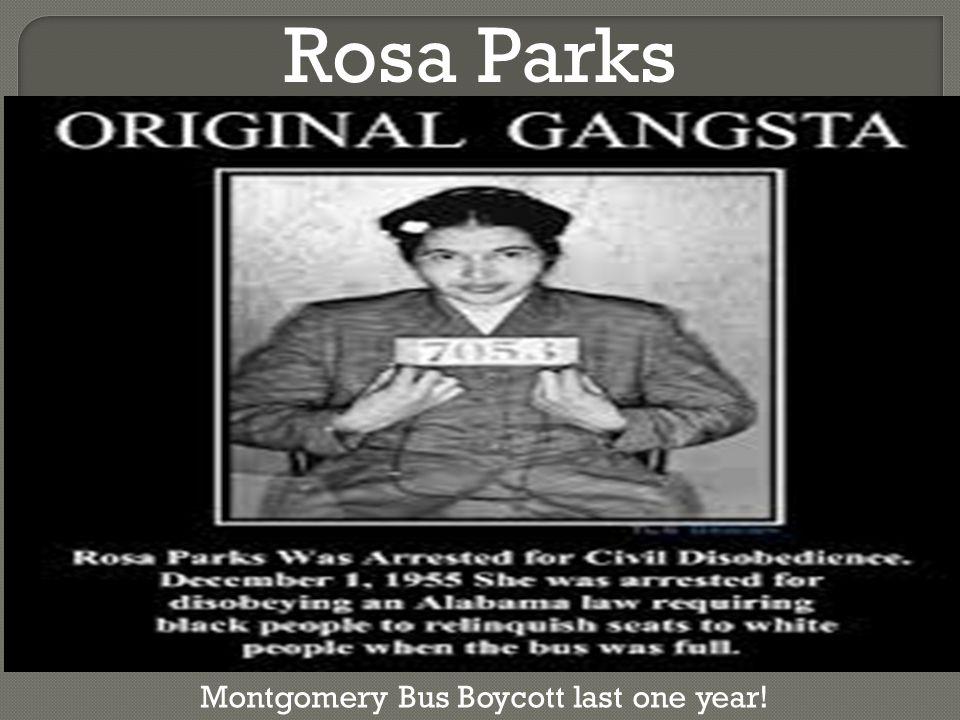 Rosa Parks Montgomery Bus Boycott last one year!