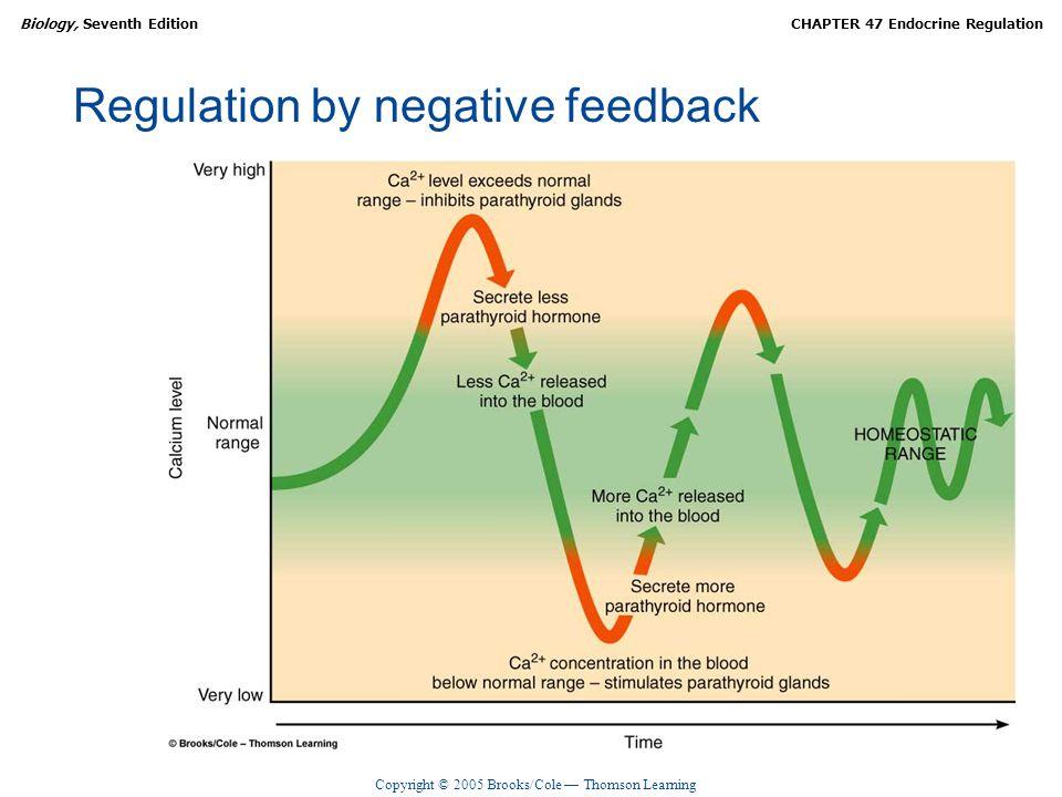 Copyright © 2005 Brooks/Cole — Thomson Learning Biology, Seventh EditionCHAPTER 47 Endocrine Regulation Regulation by negative feedback