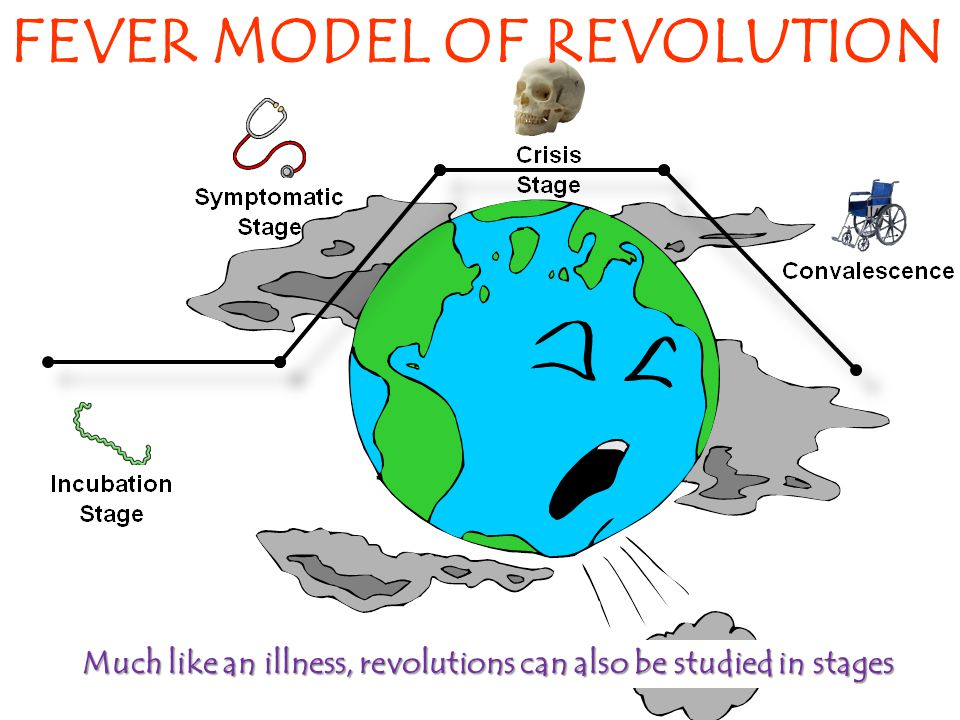 FEVER MODEL OF REVOLUTION Much like an illness, revolutions can also be studied in stages