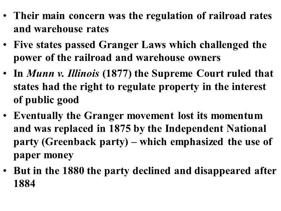 Granger Movement In 1866 the Dept. of Agriculture sent Oliver H.