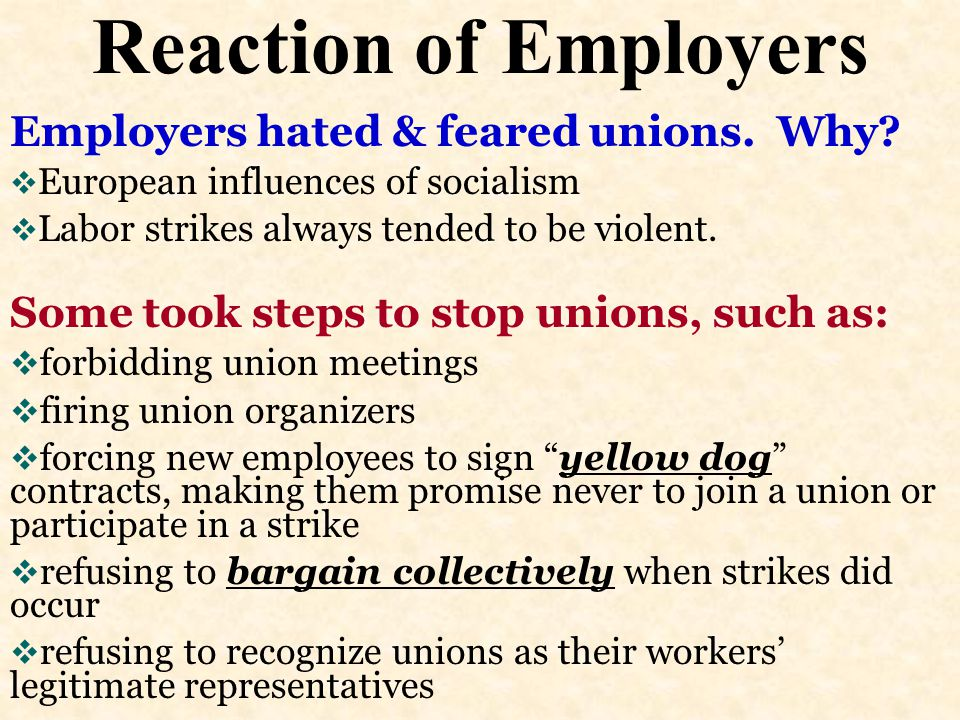 Strikes Rock the Nation  Pullman, 1894 –Eugene Debs instructed strikers not to interfere with the nation's mail. –Railway owners turned to the govern