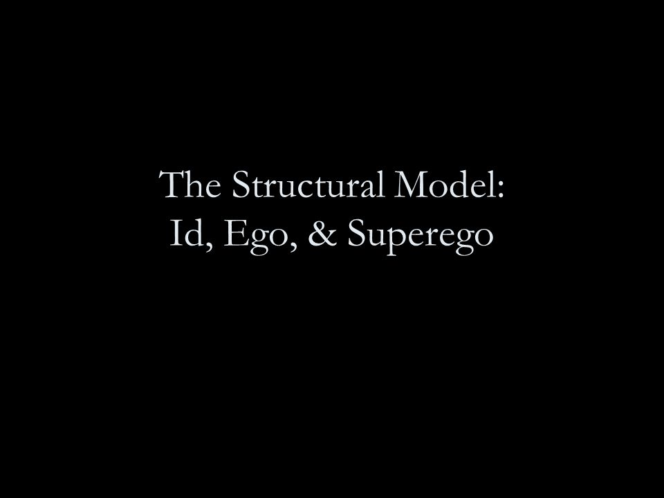 The Structural Model: Id, Ego, & Superego