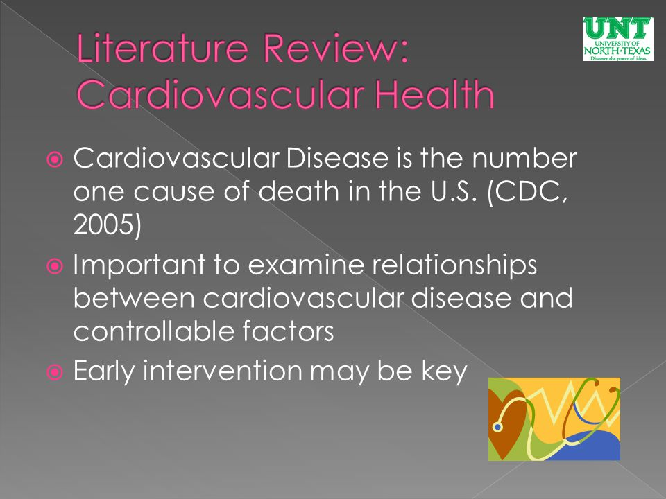  Cardiovascular Disease is the number one cause of death in the U.S.
