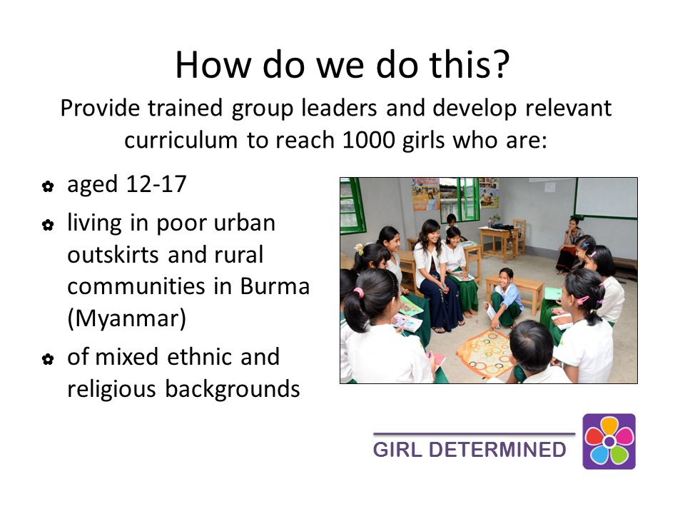 What will Dining for Women's support do? GIRL DETERMINED Expand our Colorful Girls Circles program.