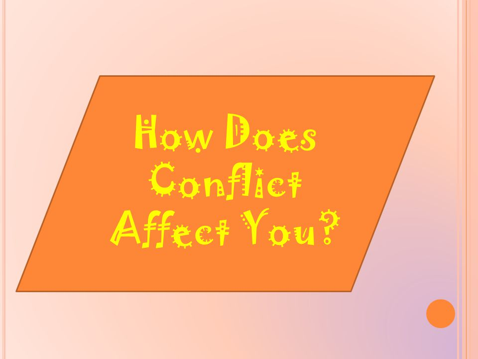 How Does Conflict Affect You?