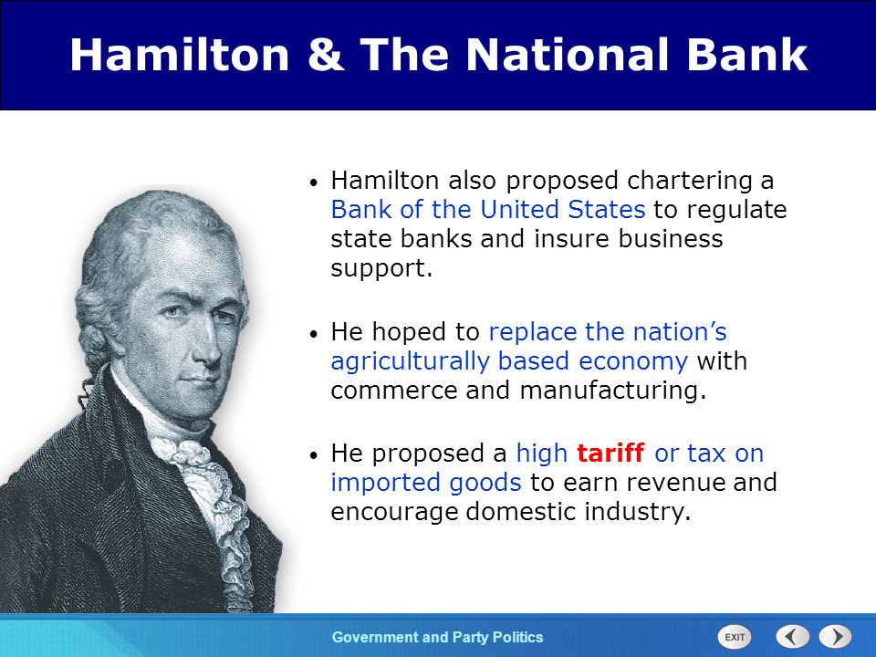 Chapter 25 Section 1 The Cold War Begins Section 1 Government and Party Politics Hamilton saw 3 advantages to his financial plan 3 The plan would enrich investors who would reinvest and thus create more wealth.