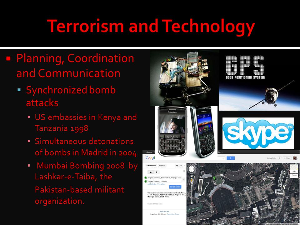  Planning, Coordination and Communication  Synchronized bomb attacks ▪ US embassies in Kenya and Tanzania 1998 ▪ Simultaneous detonations of bombs i
