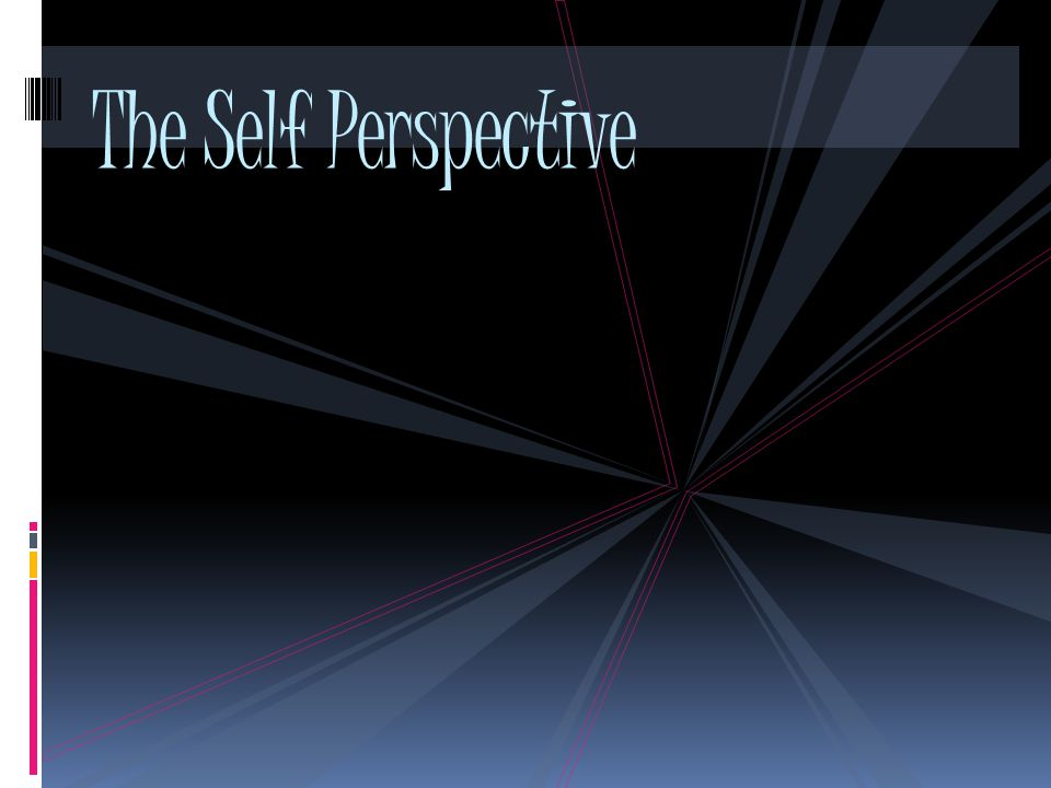 The Self Perspective