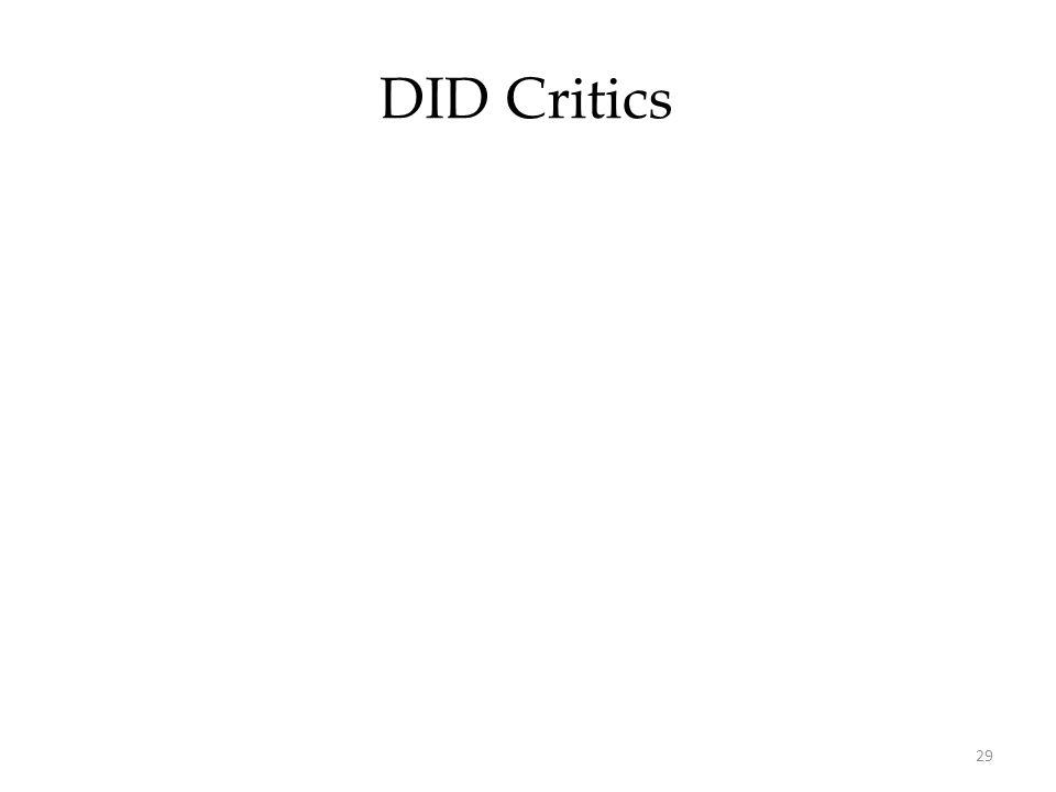 29 DID Critics