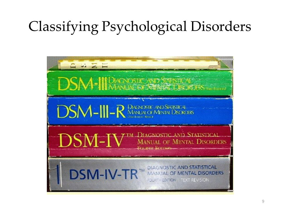 9 Classifying Psychological Disorders