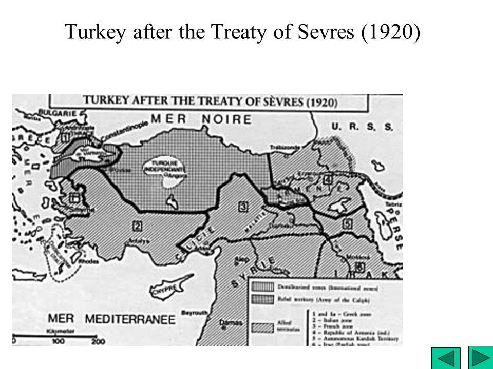 Turkey after the Treaty of Sevres (1920)