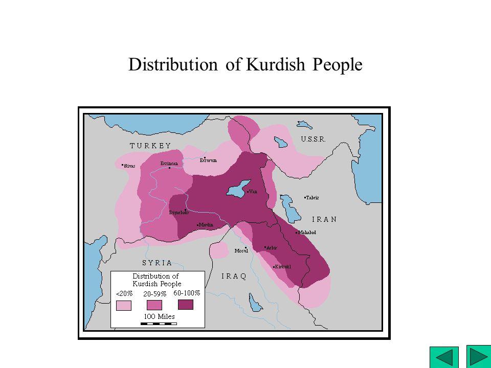 Distribution of Kurdish People
