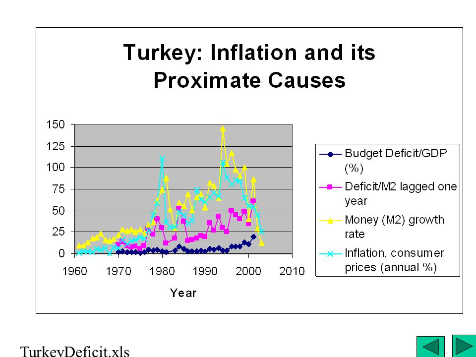 Turkey Inflation and its Proximate Causes TurkeyDeficit.xls