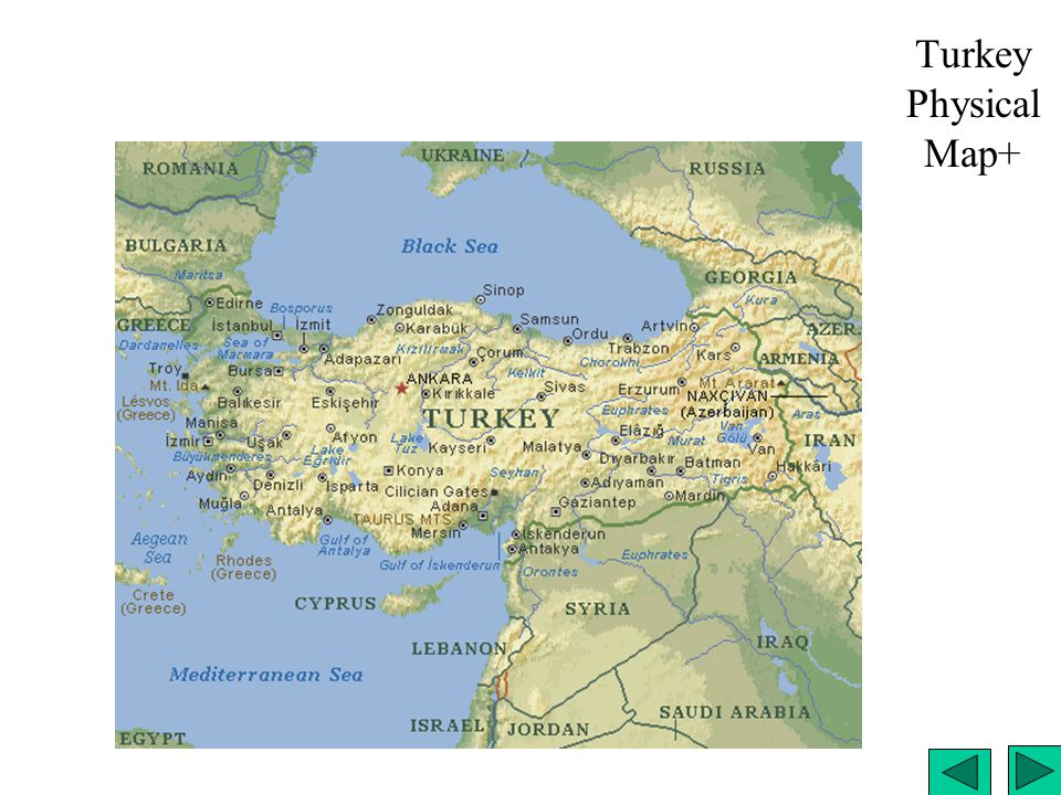 Turkey Physical Map+
