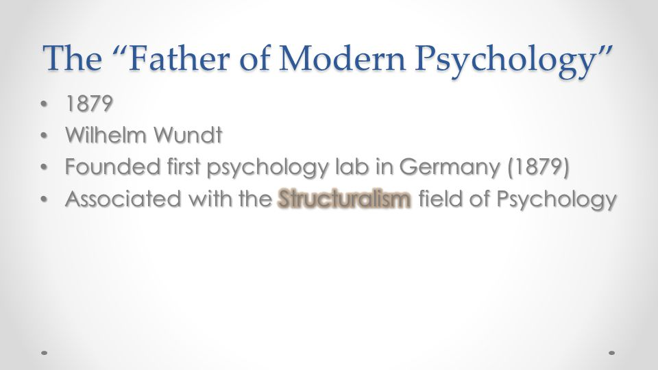 "The ""Father of Modern Psychology"""