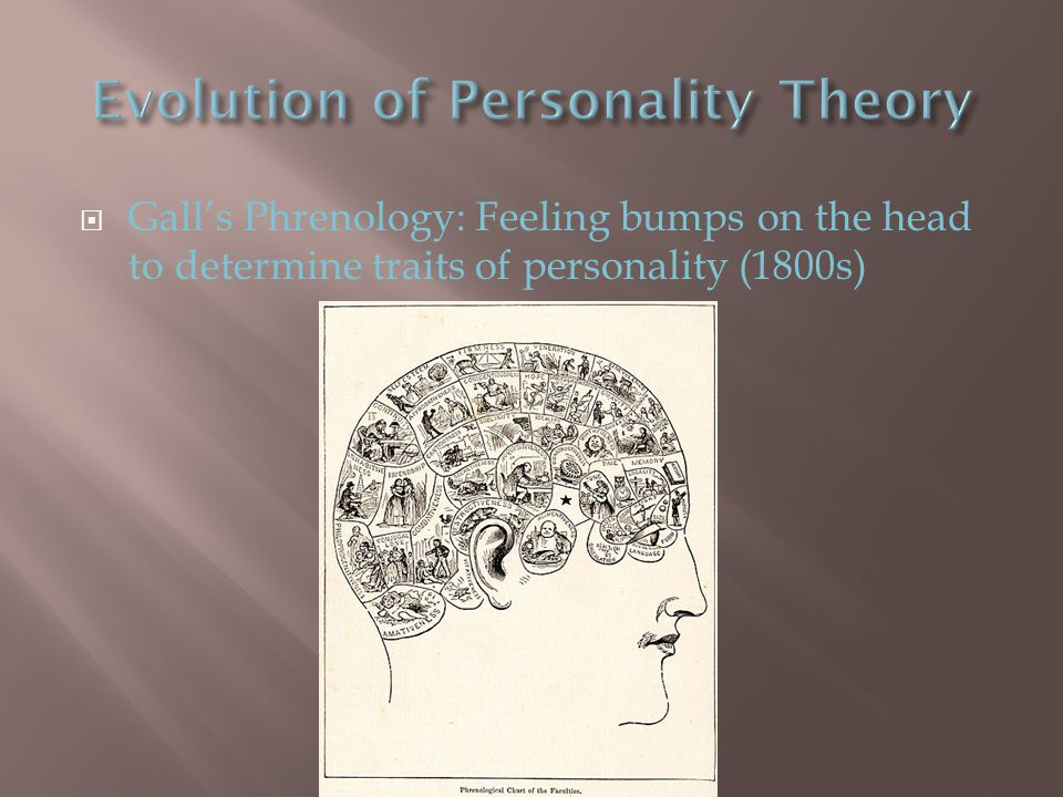  Gall's Phrenology: Feeling bumps on the head to determine traits of personality (1800s)