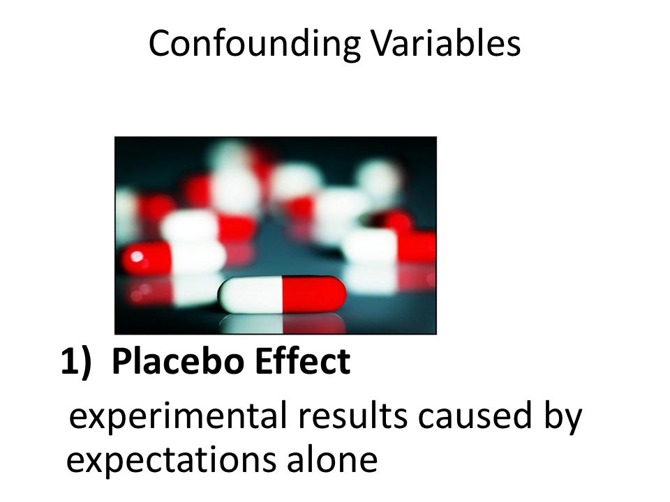 Confounding variable : external differences between the experimental group and the control group