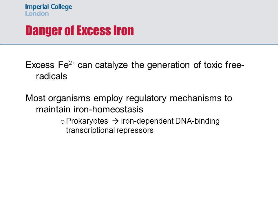 Proposed model for regulation of iron-homeostasis Fe 2+ YtgA Periplasm Cytosol YtgC YtgD YtgB Fe 2+ YtgR transcription Iron-starved