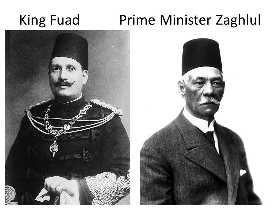 King Fuad Prime Minister Zaghlul