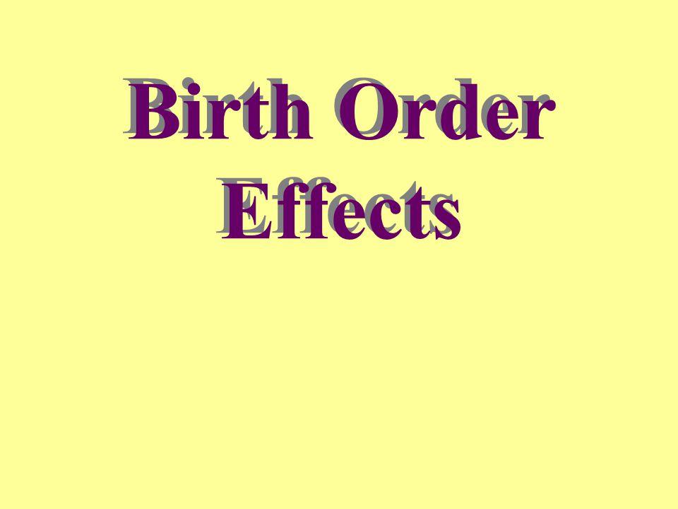 Birth Order Effects