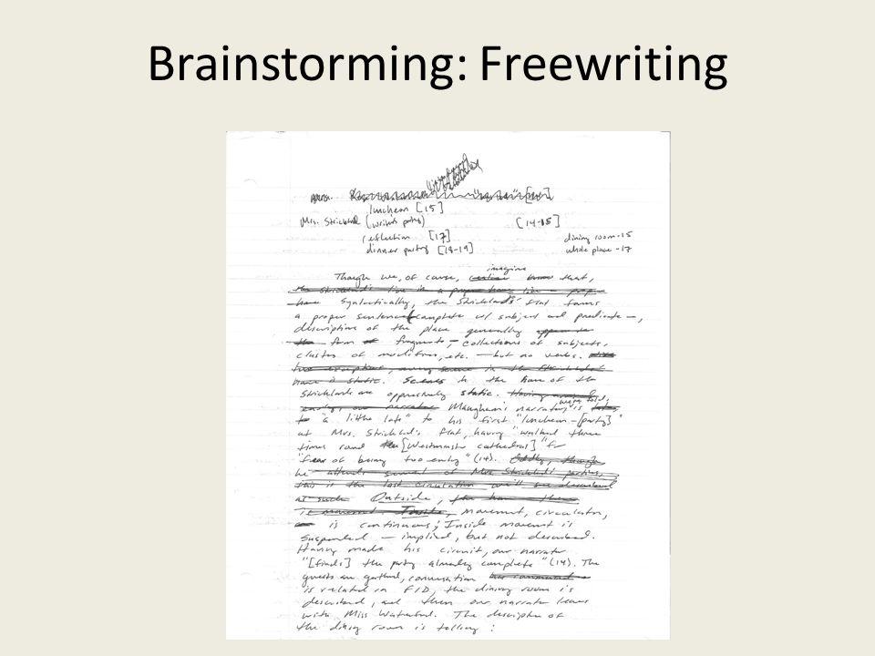 Brainstorming: Freewriting