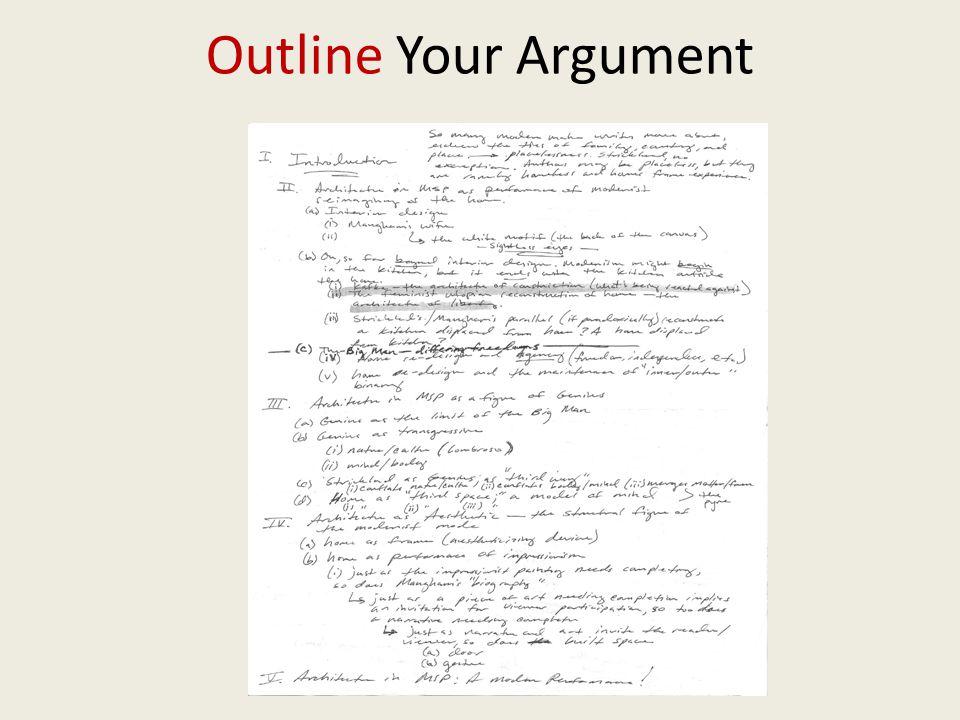 Outline Your Argument