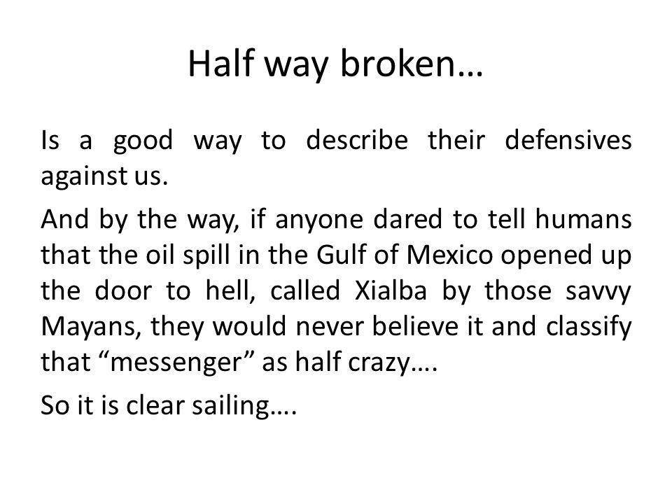 Half way broken… Is a good way to describe their defensives against us.