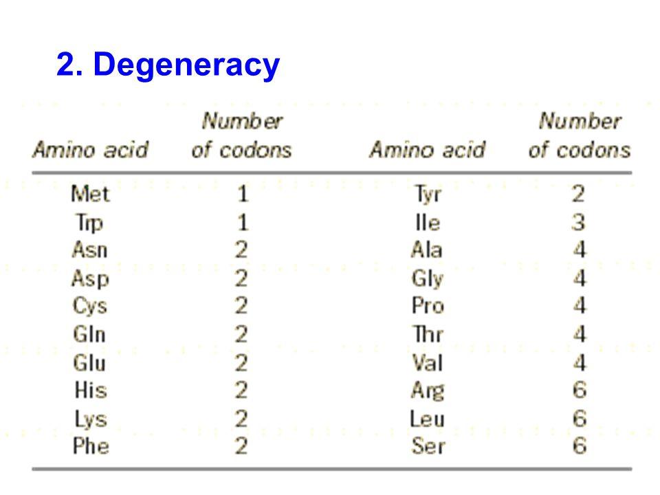 2. Degeneracy