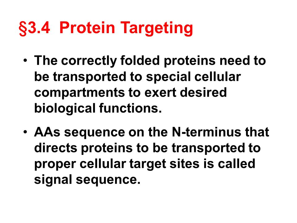 The correctly folded proteins need to be transported to special cellular compartments to exert desired biological functions.