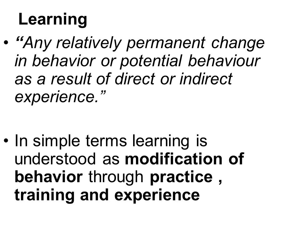 Transfer of learning Berelson and Steiner suggested that learning can be transferred from one situation to another and the extent of such transfer is a function of the extent of similarity in response.