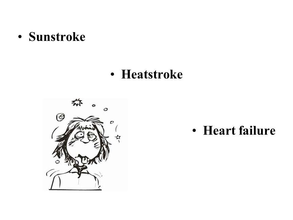 Sunstroke Heatstroke Heart failure